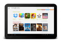 tablet con la play store abierta